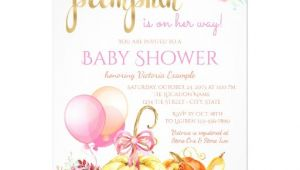 Girl Pumpkin Baby Shower Invitations Girls Little Pumpkin Fall Baby Shower Invitations