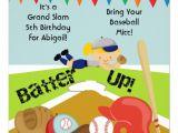 Girl softball Birthday Invitations Custom Blond Girl softball Birthday Invitation 5 25