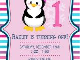 Girly Birthday Invitations Free Printable Items Similar to Girly Penguin Birthday Invitation