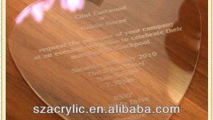 Glass Wedding Invitation Cards High Grade Glass Wedding Invitations Buy Invitations