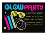 Glow In the Dark Party Invitations Free Glow In Dark Birthday Party Invitations 5 Quot X 7 Quot Invitation