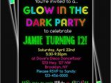Glow In the Dark Party Invitations Free Glow In the Dark Neon Birthday Party Printable Invitation