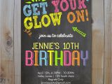 Glow In the Dark Party Invitations Free Neon Birthday Invitation Get Your Glow On Glow In the