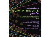 Glow In the Dark Party Invitations Free Neon Lights Glow In the Dark Party Invitation 13 Cm X 18