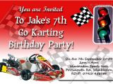 Go Kart Birthday Invitation Template 1funparty Personalised Go Kart Racing Karting Party