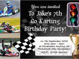 Go Kart Birthday Invitation Template Personalised Boys Go Kart Racing Invites Karting Party