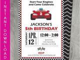 Go Kart Birthday Invitation Template Race Car Party Invitation Self Editable by Charliesprintables