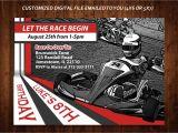 Go Kart Birthday Invitation Template Racing themed Birthday Party Invitation Gokart Party