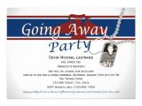 Going Away Party Invite Wording Military Going Away Party Invitation Wording