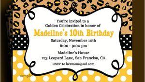 Golden Birthday Invitations Kids Golden Birthday Invitation Printable or Printed with Free