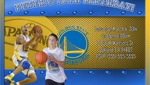 Golden State Warriors Birthday Invitations Nba Golden State Warriors Birthday Invitation
