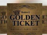 Golden Ticket Birthday Invitation Template Golden Ticket Birthday Invitation Flyer Templates