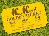 Golden Ticket Birthday Invitation Template Golden Ticket Invitation Birthday Party theme Instantly