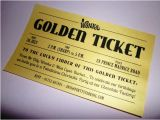 Golden Ticket Birthday Invitation Template Golden Ticket Party Invitations Printed Golden Ticket Wedding