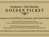 Golden Ticket Birthday Invitation Template Golden Ticket Templates Find Word Templates