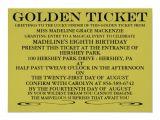 Golden Ticket Birthday Invitation Template the Golden Ticket Birthday Invitation Zazzle
