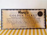 Golden Ticket Birthday Invitation Template Willy Wonka Golden Ticket Invitation Digital Printable
