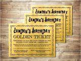 Golden Ticket Birthday Invitation Template Willy Wonka Ticket Template Grupofive Co