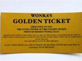 Golden Ticket Birthday Invitation Template Wonka Bar Golden Ticket Invitations Donuts