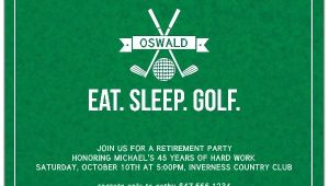 Golf Retirement Party Invitations Eat Sleep Golf Retirement Party Invitations Paperstyle