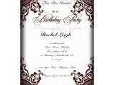 Gothic Party Invitations Black and Red Gothic Scroll Birthday Invitation 5 Quot X 7