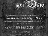 Gothic Party Invitations Chalkboard Gothic Grunge Flourish Set Halloween Birthday