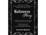 Gothic Party Invitations Gothic Victorian Spooky Black Halloween Party 5×7 Paper