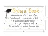 Graduation Inserts Inviting to Party Books for Grad Request Cards Graduation Party Invitation