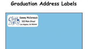 Graduation Invitation Address Labels 30 2017 Grad Address Labels Personalized Announcements