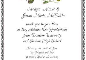 Graduation Invitation Card Sample Graduation Invitation Etiquette Template Best Template