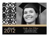 Graduation Invitation Inserts Damask Graduation Announcement Photo Insert 5 Quot X 7