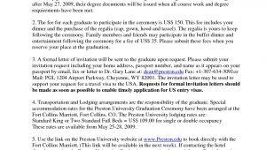 Graduation Invitation Letter From University Graduation Invitation Letter From University Invitation
