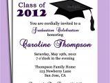 Graduation Invitation Message Graduation Party or Announcement Invitation Printable or