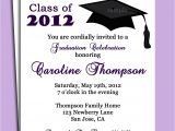 Graduation Invitation Poems Graduation Party or Announcement Invitation Printable or