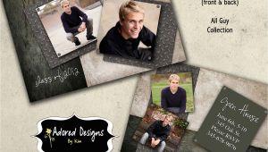Graduation Invitation Templates for Photoshop Guy Graduation Announcement Photoshop Template Card Instant