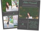 Graduation Invitation Templates for Photoshop Psd Photoshop Template Senior Graduation Announcement Card