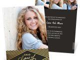 Graduation Invitations with Photos Gold Foil Diamonds Graduation Announcements Custom