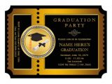 Graduation Paper for Invitations Black and Gold College Graduation 5×7 Paper Invitation