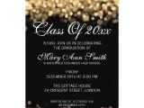 Graduation Paper for Invitations Elegant Graduation Party Gold Lights 5×7 Paper Invitation