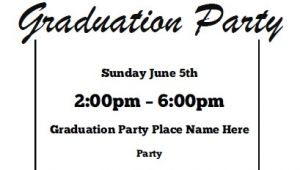 Graduation Party Invitation Template Free Graduation Party Invitations Free Printable