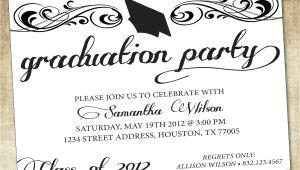 Graduation Party Invitations Word Templates Unique Ideas for College Graduation Party Invitations