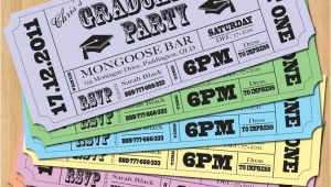 Graduation Party Ticket Invitations Ticket Idea Graduation Party Invitations Vintage Ticket