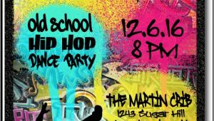 Graffiti themed Birthday Invitations 90s Hip Hop Graffiti Birthday Invitations [di 464