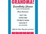 Grandma Baby Shower Invitations Grandma Grandbaby Shower with Hearts Invitations