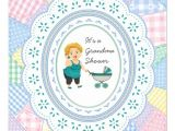 Grandma Baby Shower Invitations Pastel Quilt Grandma Baby Shower 5 25×5 25 Square Paper