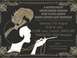 Great Gatsby Party Invitation Template Free 10 X Great Gatsby Personalised Birthday Party Invitations