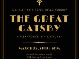 Great Gatsby Party Invitation Template Free Customize 204 Great Gatsby Invitation Templates Online