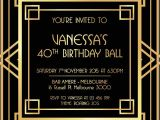 Great Gatsby Party Invitation Template Free Great Gatsby Invitation Black and Gold Great Gatsby
