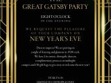Great Gatsby Party Invitation Template Free Great Gatsby New Years Eve Party Tickets Mon 31 Dec 2018