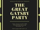 Great Gatsby Party Invitation Wording Customize 204 Great Gatsby Invitation Templates Online